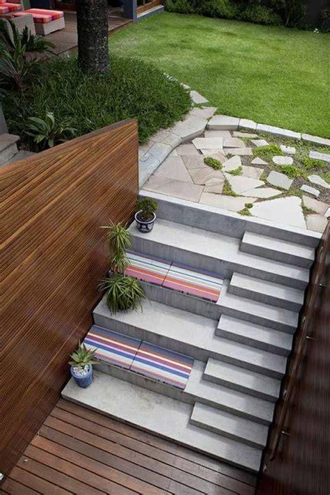 escalier jardin idee deco escaliers en  escalier