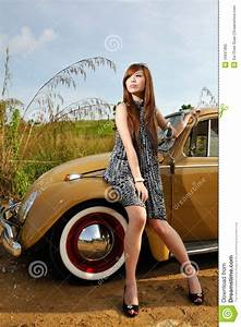 Girl, And, Car, Royalty, Free, Stock, Photo