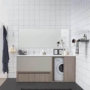 acqua e sapone e meuble de salle de bains compose de plan With meuble salle de bain machine a laver