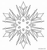 Snowflake Coloring Printable Cool2bkids Winter Sheets Colouring Weather Adult sketch template