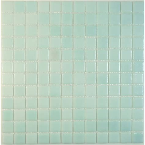100 recycled 1 x 1 green glass square tile matte lag030