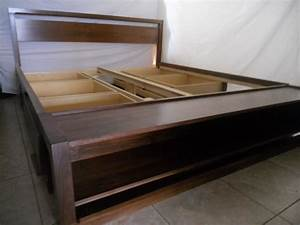 Plans For King Size Platform Bed With Drawers Quick