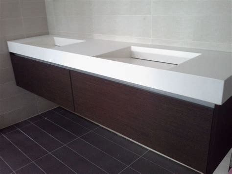 Corian Basin Bathroom by Floating Vanity White Corian Top With Integrated Sinks