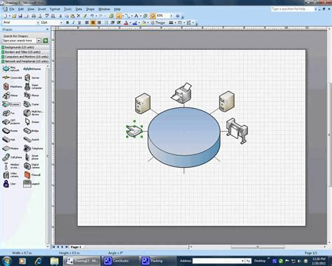 creating a ring topology in visio