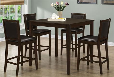 dining room sets walnut 5 counter height dining room set 1549 monarch