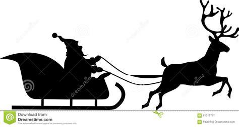 Santa Rides In A Sleigh Stock Vector