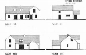 facades maison cheap faade de maison typique de lle de r With plan de maison moderne 1 plan facades maison ossature bois primaude epure bois