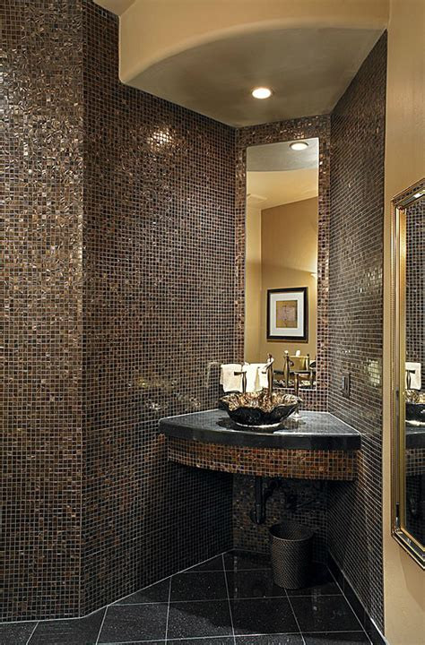 Mosaic Shower Curtain by 40 Stylish Small Bathroom Design Ideas Decoholic