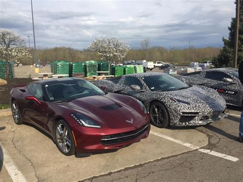 C8 Corvette News by Spied A Of C8 Corvette Prototypes Are Spotted At A