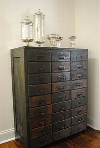 antique card catalog and mercury glass genre vintage With young furniture kitchen cabinets