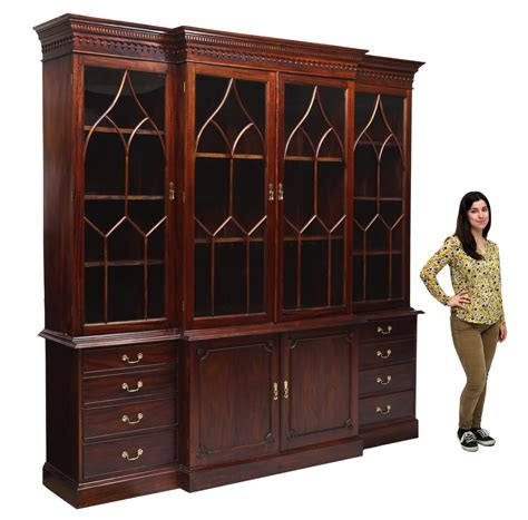 mahogany breakfront china cabinet large carved mahogany breakfront china cabinet april