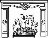 Fireplace Printable Outline Paste Diy Faux Printed Advent Calendar Ajoyfulriot sketch template