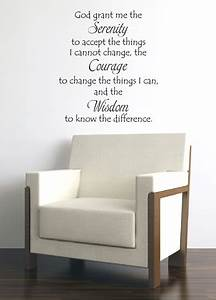 serenity prayer quote vinyl wall decal sticker art words With great ideas serenity prayer wall decal