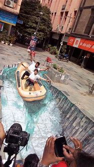 3D street painting India: A workshop with Tracy Lee Stum ...