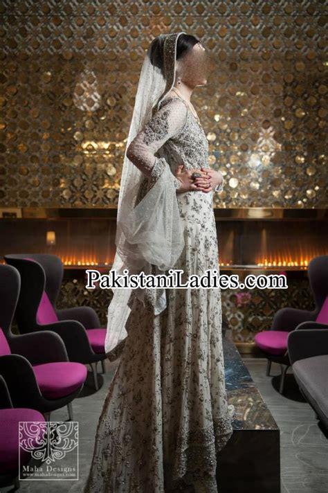 bridal wedding dresses walima white frock