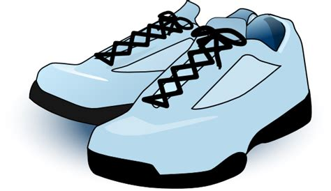 Clipart Shoes Tennis Shoes Clip At Clker Vector Clip