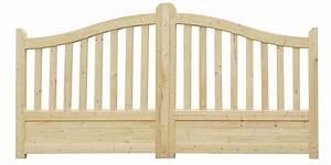 Portail En Bois : portail en bois gand 350 cm idea bois nicolas ~ Premium-room.com Idées de Décoration
