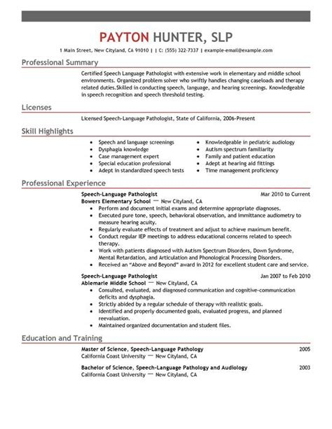 use this professional speech language pathologist resume