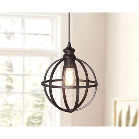1 light brushed bronze instant pendant light conversion