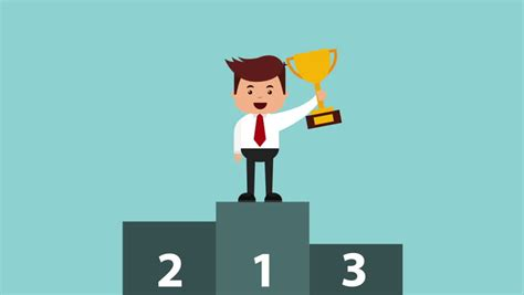 Business Trophy Rating Award Winner Cartoon…