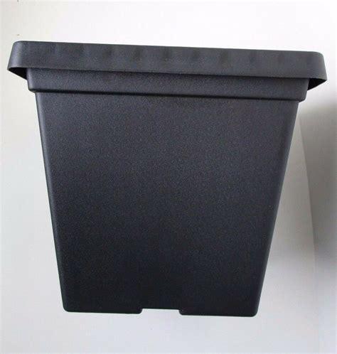 set    black serene square plastic planters pots