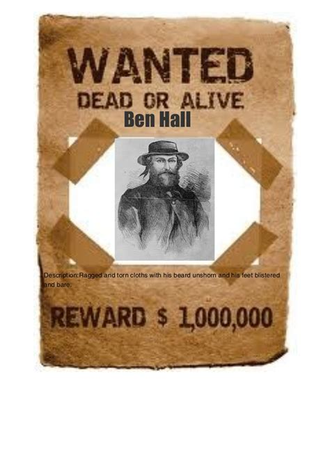 Wanted Poster Ben Hall