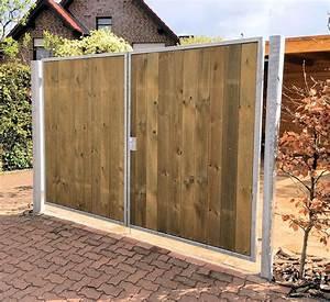Einfahrtstor Selber Bauen : einfahrtstor 200 x 180cm 2 fl gelig verzinkt holz tor ~ Lizthompson.info Haus und Dekorationen