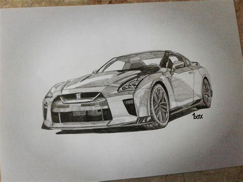 nissan gtr skyline drawing i wanted to do the first drawing of the new 2017 nissan gt