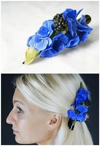 Blue Flower Hair Clip Hydrangea Hair Clip Bridal