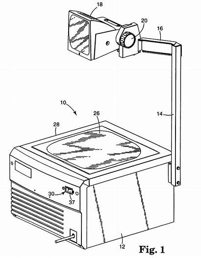 Overhead Projector Drawing Patents Safety Interlock