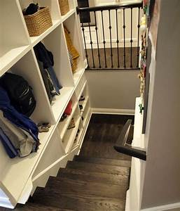Adding, Family, Organization, Through, Cubbies, Along, Basement, Stairs
