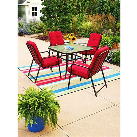 mainstays lawson ridge 5 piece patio dining set red