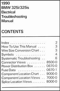 1990 Bmw 325i  325is Electrical Troubleshooting Manual