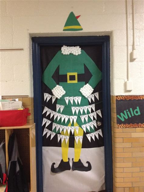 Elf Themed Christmas Door Decorations For School Contest
