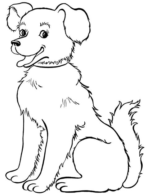 beautiful dog coloring page dog dog coloring page