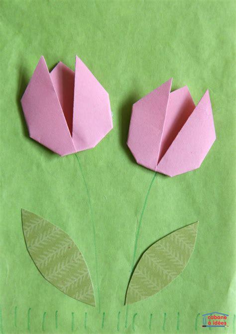 printemps si e social une carte pour le printemps avec un origami de tulipe