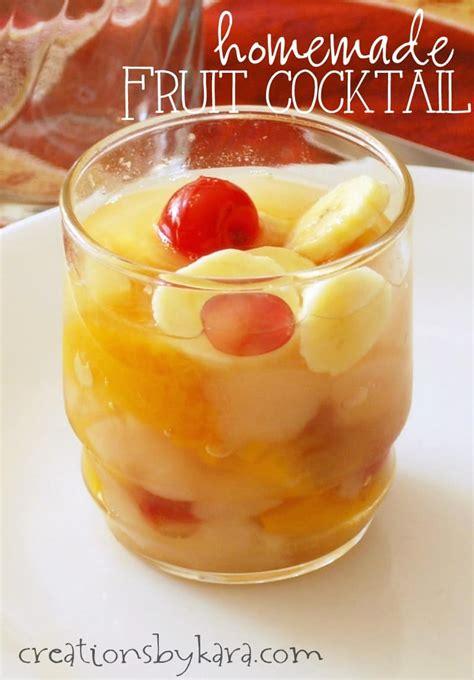 homemade fruit cocktail