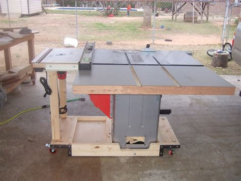 tablesaw mobile base router table extention wing