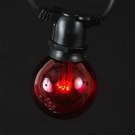 5 pack red led g50 globe bulbs novelty lights