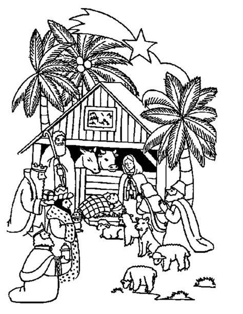 Kerststal Kleurplaat Olwassen by Kleuren Nu Samen Bij De Kerststal Kleurplaten