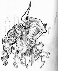 Robot Dragon Slayer Sketch - Pencil by Pencilbags on ...