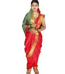 nauvari saree readymade marathi uu  yard