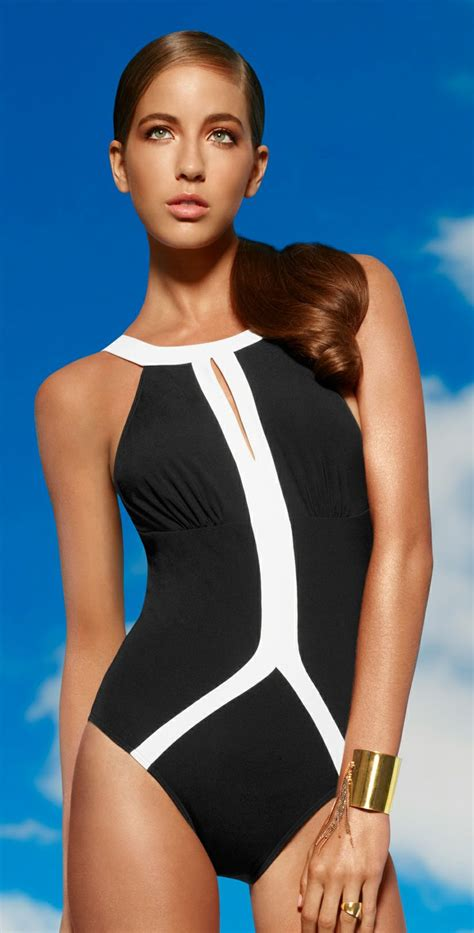 high neck one swimsuit jets 2014 classique high neck one swimsuit j1768 blk