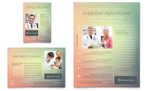 medical clinic flyer ad template design