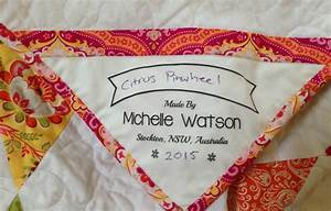 custom quilting labels the needles excellency With handmade quilt labels