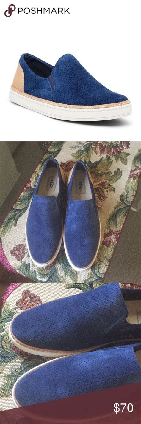 New Ugg Adley Perf Colormarine Leather Heels Uggs