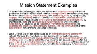 Mission Statement Exles by Hermosa Vision And Mission Statement Ppt