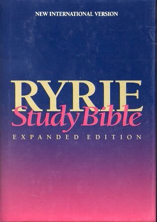 holy bible ryrie study bible niv  anonymous reviews