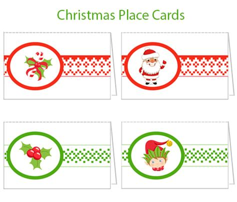 Place Card Templates Freechristmas Template Printable Place Cards Tree Farm