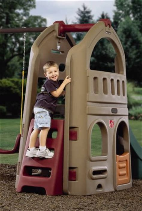step naturally playful playhouse climber swing set extension endurro   kids indoor